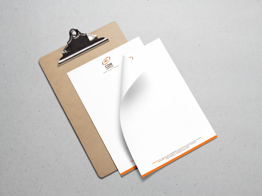 CDR Equipping Letterhead