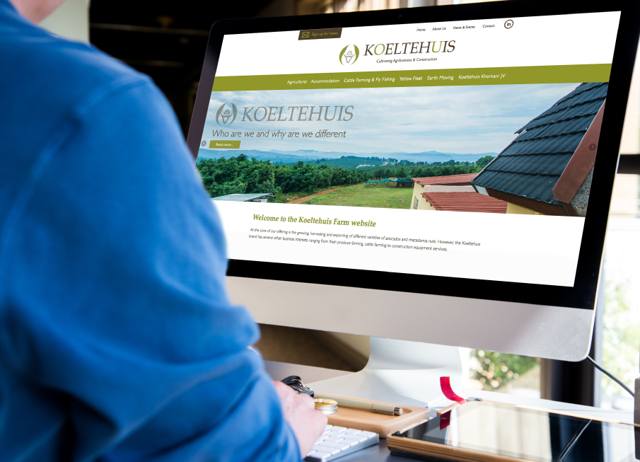 Koeltehuis Website - Home Page - Desktop