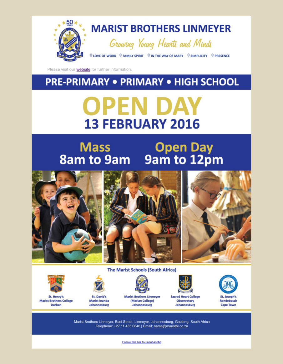Marist-Brothers-Linmeyer-Mailers-Open-Day