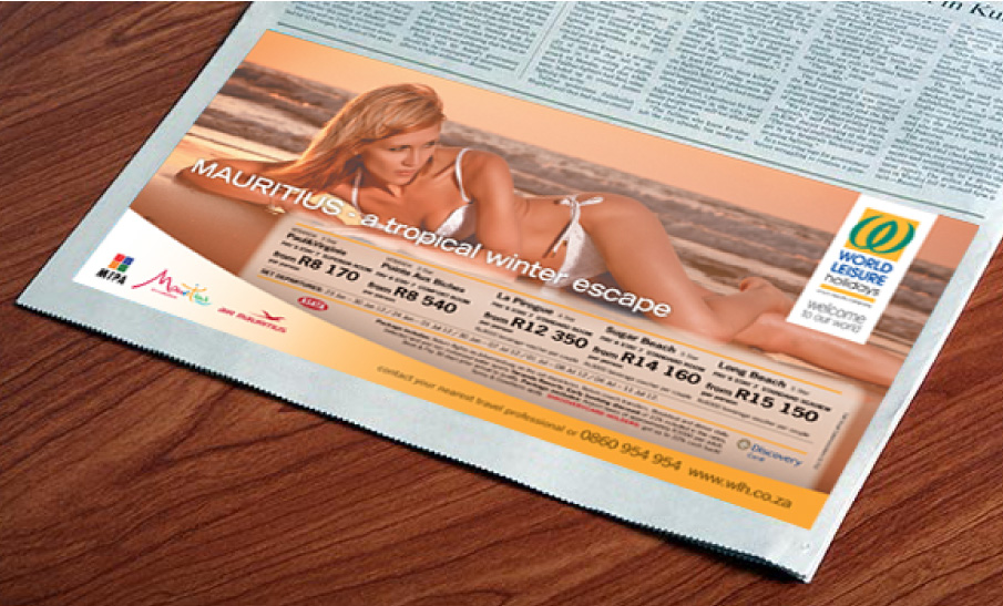 World-Leisure-Holidays-Newspaper-Print-advert-01